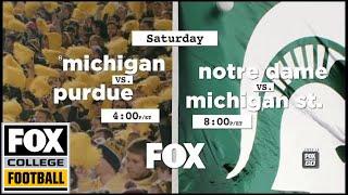Michigan vs. Purdue/Notre Dame vs. Michigan State | FOX COLLEGE FOOTBALL