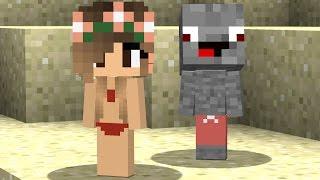 Minecraft Film deutsch Schwimmen mit einem Mädchen