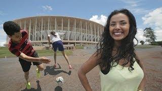 Brazilian Girls Football Skills in Brasilia | Maya