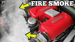 My Salvage Ferrari Caught FIRE After I Tried Repairing its Engine