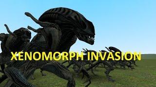 GMOD FIGHTS: ALIENS XENOMORPH TAKEOVER: NPC WARS