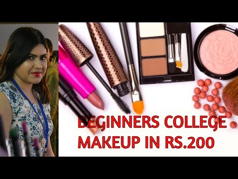 College Makeup Essentials under Rs 200 | Indian beginners affordable makeup kit in hindi