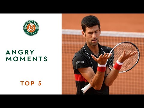 Angry Moments TOP 5 Roland Garros 2018