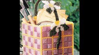 DIY Flower Basket  Plastic Canvas