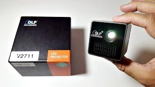 Awesome Ultra Mini DLP Projector - 1080p HD Movies - 1000mAh Battery