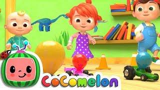 Toy Balloon Car Race   Nursery Rhymes & Kids Songs - ABCkidTV