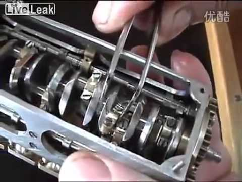 A handmade mini V12 engine
