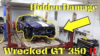 Rebuilding a Wrecked Ford Mustang Gt350r bought from Copart Part 2