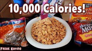 10,000 Calories of Breakfast Cereal Challenge! #Carbs | FreakEating vs The World 129