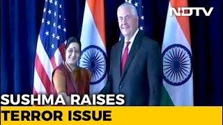 Sushma Swaraj Raises Issue Of Terrorism, H-1B With US Secretary of State