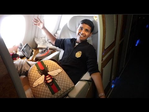 15 YEAR OLD FLYS ON $30,000 FIRST CLASS FLIGHT