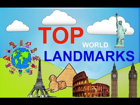 Top 5 famous Landmarks of the world for children. educational video for kids. Sightseeings