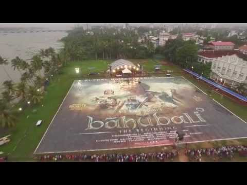 Baahubali - Audio Launch & World's biggest Poster revealed in Kochi | Watch Video