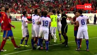 Spain vs Chile game fight!