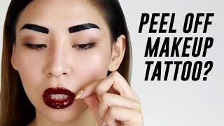 Peel Off Lip & Eyebrow Tattoo Review | TINA TRIES IT