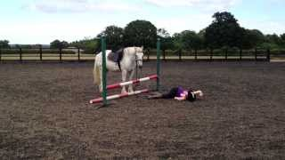 Pathetic fall off a horse!