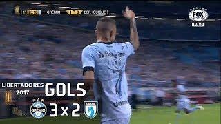 Gols - Grêmio 3 x 2 Deportes Iquique (CHI) - Libertadores 2017