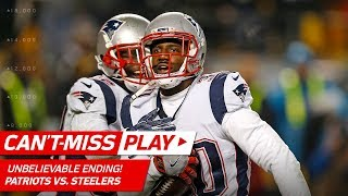 UNBELIEVABLE ENDING to Patriots vs. Steelers Game!   Can