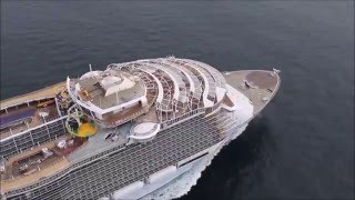 Harmony of the Seas Construction to First Test Sail