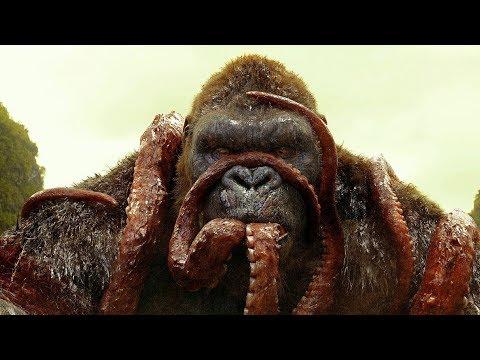 KONG vs GIANT SQUID Fight Scene Kong Skull Island 2017 Movie Clip HD