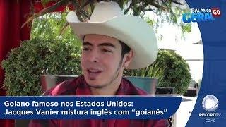 """BG - Goiano famoso nos Estados Unidos: Jacques Vanier mistura inglês com """"goianês"""" - 03-10-2018"""