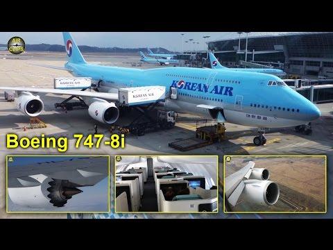 Korean Air Boeing 747 8i MEGA Business Class Seoul Frankfurt AirClips full flight series