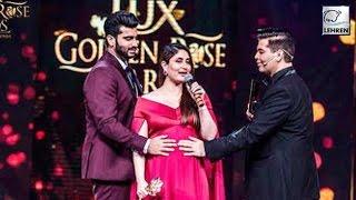 Pregnant Kareena Kapoor Asked Karan Johar To 'Back Off' | Lux Golden Rose Awards 2016 | LehrenTV