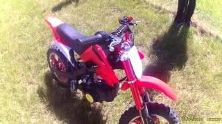 Petit démo de ma pocket bike cross 50cc #1