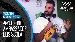 Luis Scola represents the YOG2018 in his hometown | Youth Olympic Games