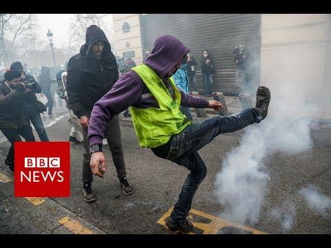 Xxx Mp4 Yellow Vest Movement Paris Police Fire Tear Gas At Protesters BBC News 3gp Sex