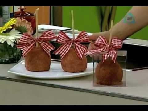 Cocinemos Juntos Manzanas cubiertas con chamoy