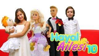 Hayal Ailesi 10 – çocuk dizisi türkçe. #Barbie ve Ken düğünü. Düğün hazırlığı oyunu