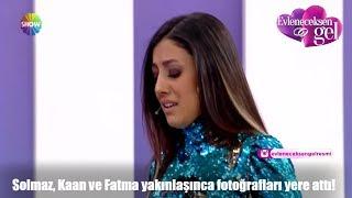 Solmaz, Kaan ve Fatma yakınlaşınca fotoğrafları yere attı!
