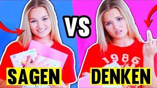 Was Schüler SAGEN vs was sie WIRKLICH DENKEN! 📚😳 + IPAD VERLOSUNG!