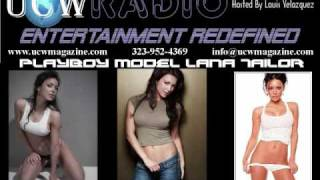 Playboy Cover Model Lana Tailor Interview with the UCW Radio Show