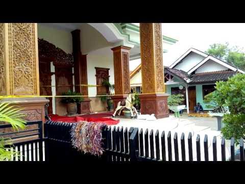 Kawasan kediaman Dimas Kanjeng Taat Pribadi setelah beberapa hari di tangkap Polisi