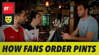 How Premier League clubs order a pint in 90 seconds | Ft. Man United, Man City and Arsenal
