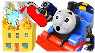 Train Thomas to the Rescue -  Firefighter Rescues Masha