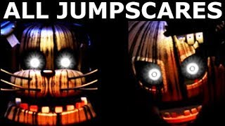 JOLLY 3: Chapter 1 & 2 - All Animatronic Jumpscare Animations (FNAF Horror Game 2018)