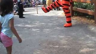 Liam & Emerson meet Tigger and Pooh