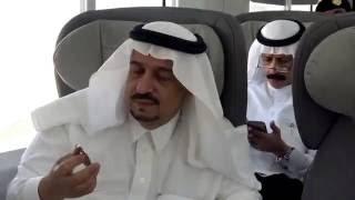 شاهد ماذا دار بين أمير الرياض ووزير النقل في أول رحلة للقطار بين الرياض والمجمعة
