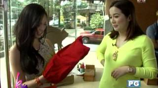 Kim receives designer shoes from Kris