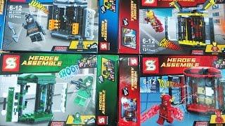 Lego DC vs Marvel SuperHeroes Batman Arrow Flash Iron Man Gear Storage Sheng Yuan Bootleg SY222 Revi