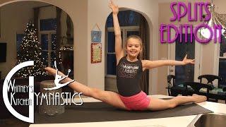 How to do the Splits   Whitney's Kitchen Gymnastics   Oversplits Edition