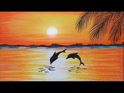 Xxx Mp4 How To Paint A Scenery Of Sunset With Oil Pastels Colorstep By Step 3gp Sex