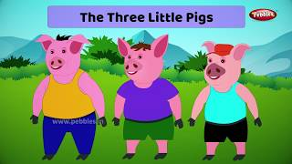 Three Little Pigs Story in English | Moral Stories in English For Kids | Storytelling in English