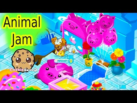 Cookieswirlc Let's Play Animal Jam Online Game - Awesome Dens , Dance Party Video