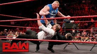 Brock Lesnar wreaks havoc on