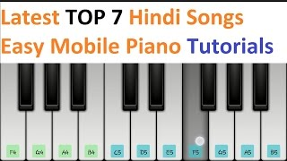 Latest Top 7 Hindi Songs Piano Tutorials - Jarzee  Entertainment