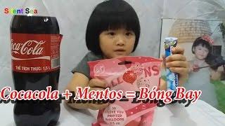 Thổi Bóng Bay Với Cocacola Mentos Và Bóc Trứng Khủng Long Có Trong Bóng Bay